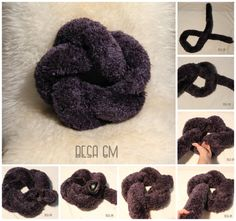 Knotenkissen. Knotted Pillows Tutorial