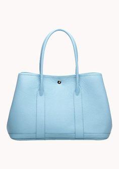 New Popular 37CM Tote Bag Calfskin Leather Light Blue