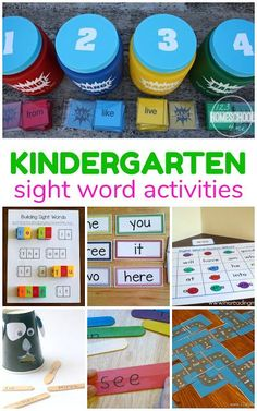 Kindergarten Sight Words - over 30 fun, engaging, and free kindergarten sight words activities to help kids achieve fluency and read confidently.