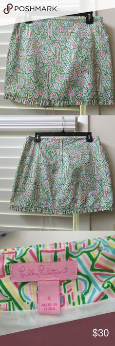 New Guiding Light Lilly Pulitzer Callie Skirt Brand new without the tags! In absolutely mint condition with no flaws. Really cute skirt with a Ruffled edge detail! Lilly Pulitzer Skirts Mini