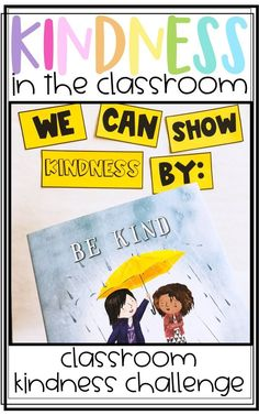 Spreading Kindness in the Classroom with Classroom Kindness Challenges! Students complete a kindness challenge and get to celebrate being kind! Great for the Day of School, Valentine& Day, or anytime! Classroom Behavior, Classroom Activities, Book Activities, Classroom Management, Classroom Ideas, Classroom Meeting, Counseling Activities, Class Management, Behavior Management