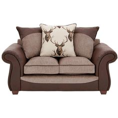 Arran 2-Seater Sofa ($525) ❤ liked on Polyvore featuring home, furniture, sofas, woven furniture, dark brown furniture, plaid furniture, colored furniture and plaid couch