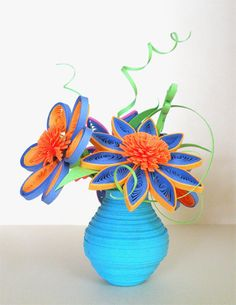 Vase with flowers - Quilled Creations Quilling Gallery