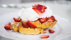 Billy Dec's Lemon blueberry pancakes & strawberry shortcake waffles. TODAY, March 13th 2017.