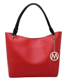 Loving this Red Smooth Square Hobo & Pouch on #zulily! #zulilyfinds
