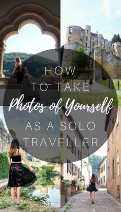 How to take photos of yourself as a solo traveller! Photography tips for travel!
