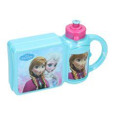Disney Frozen lunchset bestaande uit een broodtrommel en drinkbeker in 1. BPA vrij. Niet geschikt voor in de vaatwasser. Afmeting: 25 x 16 x 7 cm - Disney Frozen Broodtrommel en Drinkbeker 2in1