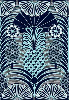 pineapple vintage pattern