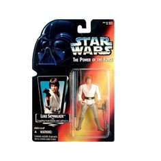 Star Wars: Power of the Force Red Card Luke Skywalker with Grappling Hook Blaster and Long Lightsaber Action Figure | ToyZoo.com