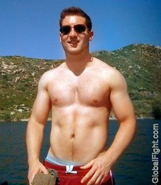 beach jock fuzzy chest