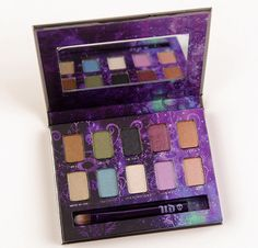 Urban Decay Ammo Eyeshadow Palette (2013 Edition) $34.00 includes ten eyeshadows: Smog (deep coppery bronze shimmer), Mildew (mossy green shimmer with gold shift), Oil Slick (black matte with silver micro-glitter), Last Call (metallic plum shimmer), Chopper (copper shimmer with silver micro-glitter), Maui Wowie (metallic golden beige shimmer with silver glitter), Shattered (turquoise shimmer with a gold shift), Polyester Bride (white snow shimmer with silver micro-glitter),