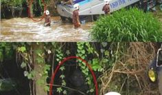 Creepy looking ghost at Bridge accident in Malaysia