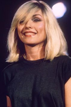 Debbie Harry circa 1981 ~ too cool to care side swept perfection.