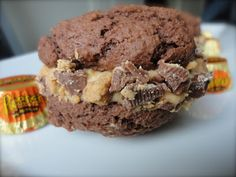 Chocolate Peanut Butter Cup Whoopie Pies