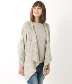 Women's poncho-style cardigan - PULL Womenswear Camaïeu.