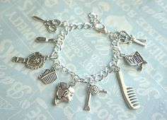 cute gifts for future stylist friends :) Hair stylist charm bracelet