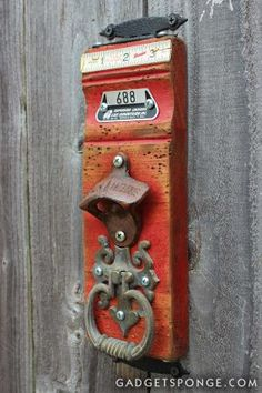 Could this be a door knocker?  More Repurposed Wall Hangers - JUNKMARKET Style