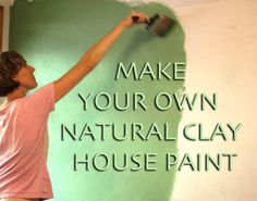 Every room in my home is painted with thisnatural clay paint that's easy to make, economical, and gives my home a beautiful, soft, adobe-like look. I get compliments from all my guests! Supplies Needed: drill with paint mixer attachment bucket flour borax Natural Earth Pigments fine sand (optional)