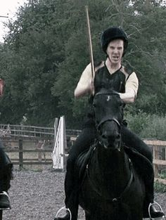 Benny riding a horse while brandishing a stick gifs: http://youstillcare.tumblr.com/post/19686495588