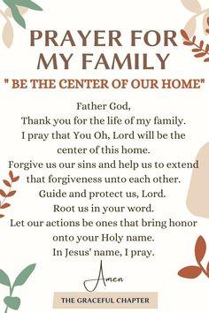 Prayer For My Family, Prayers For My Husband, Good Prayers, Prayer For You, Powerful Prayers, Prayers For Children, Prayer Times, Prayer Scriptures, Frases