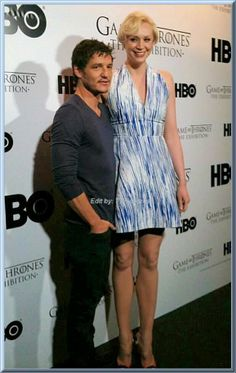 """Pedro Pascal (""""Oberyn"""") and Gwendoline Christie (""""Brienne), Two of my favs looking stunning"""