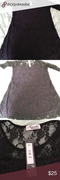 Lace Purple Grape Black Goth Witchy Dress Nouvelle Collection Size 20 Lace Purple Grape Black Goth Witchy Gothic Dark Vampire Dress Stretchy using Hot Topic for exposure Hot Topic Dresses