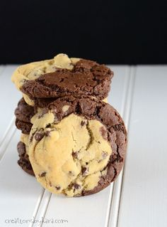 Brookies- the perfect marriage of brownies and chocolate chip cookies!