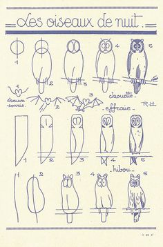 Owls - french art tutorial