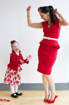 Incomparable Imelda May, dancing with a very happy young down syndrome girl