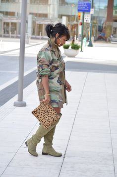 Fall 2015, Fall Outfit ideas, Outfit Ideas, Sweenee Style, OTK boots, Camo Jacket