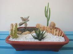 Meu Jardim é Assim...: Mini-jardins de cactos e suculentas, fiz mais...