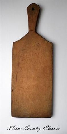 19th Century Antique Primitive Hand Carved Wood Bread Cutting Board Wooden Peel   eBay
