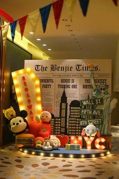 Dream Flavours Celebration's Birthday / Tsum tsum - Benjie's Tsum Fun Tastic New York Birthday at Catch My Party New York Party, Birthday Party Decorations, Birthday Parties, Tsum Tsum Party, American Party, Tsumtsum, Special Birthday, 10th Birthday, Super Party