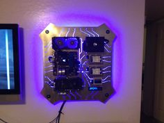 I made a custom wall mounted PC for my SO, and I want to show off! - Imgur