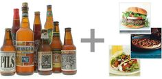 Beer can be difficult to pair with food. Every beer matches some type of food.