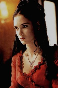 "Mina's red bustle gown from the film ""Bram Stoker's Dracula"""