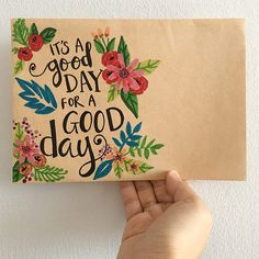 A Good Day Happy Mail// Greetings// Envelope// Paperart