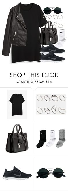 """#14051"" by vany-alvarado ❤ liked on Polyvore featuring Monki, ASOS, Yves Saint Laurent, NIKE and H&M"