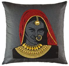 indian inspired, indian decor, indian interiors, indian jewelry, indian home Saree Painting, Fabric Painting, Pillos, Fabric Paint Designs, Madhubani Art, Indian Art Paintings, Fabric Decor, Cushion Covers, Decoration