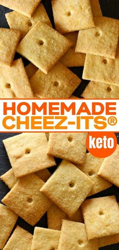 Homemade Cheez Its Crackers Made Healthier! With this grain Dairy Free Recipes, Vegan Gluten Free, Paleo Recipes, Low Carb Recipes, Real Food Recipes, Paleo Food, Dairy Free Snacks, Paleo Bread, Paleo Baking