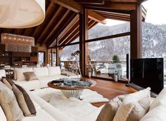 Sensual living room furs & wood