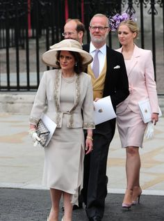 (L-R) Sylvana Windsor, Countess of St Andrews, her husband George Windsor, Earl of St Andrews, his brother Lord Nicholas Windsor and his wife Lady Nicholas Windsor (née Paola Doimi de Lupis de Frankopan)