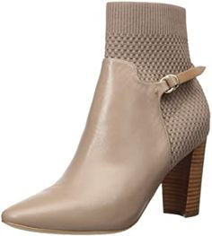 Imported, Synthetic sole, Shaft measures approximately ankle-high from arch, Leather and stretch knit water resistant upper, D-ring belt design detail, Pull on Style through elasticized belt. Ankle Boots, Shoe Boots, Stylish Boots For Women, Cole Haan Shoes, Fashion Boots, Booty, Heels, Autumn Fashions, Arch