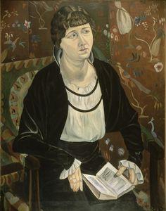 André Derain (1880 - 1954).     Portrait de Lucie Kahnweiler (Portrait de Mme K...), 1913, Huile sur toile, 92 x 73 cm, Centre Pompidou.