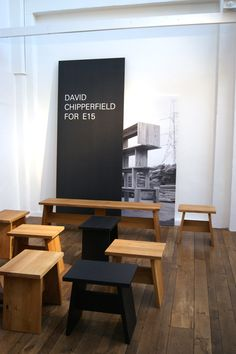 German brand e15 is celebrating its twentieth year with the launch of a new collection by British architect David Chipperfield. Made from solid oak and walnut, the table, bench and stool were originally produced for an architectural project in the English countryside. Salone del Mobile 2015