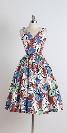 1950's Rue de Passy Cotton Summer Party Dress