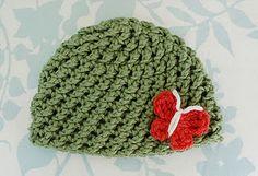 Free Pattern: Crossed Texture Hat - Newborn