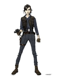 This beautiful Rogue One concept art shows off early designs for the characters Star Wars Women Ideas of Star Wars Women women In early versions of the script Jyn had a Jedi mother and a younger brother who she had to protect. Rpg Star Wars, Star Wars Books, Star Wars Characters, Rogue One Star Wars, Costume Star Wars, Concept Art Landscape, Design Alien, Art Tutorial, Art Disney