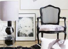 Frisk den gamle rokokostol stol op med en fræk farve og et stykke flot tekstil, så får du en en sjov og anderledes stol. Se her hvordan du gør
