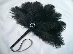 Black Ostrich Feather